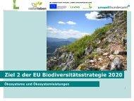 Ziel 2 der EU-Biodiversitätsstrategie 2020 - Umweltbundesamt