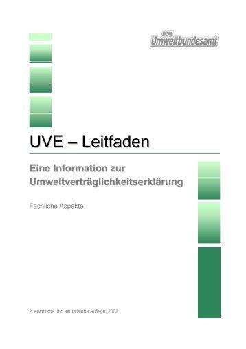UVE – Leitfaden - Umweltbundesamt