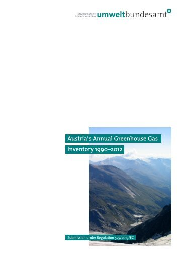 Austria's Annual Greenhouse Gas Inventory 1990–2012
