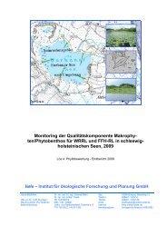holsteinischen Seen, 2009 - Landesamt für Landwirtschaft, Umwelt ...