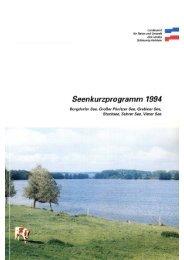Seenkurzprogramm 1994 - Landwirtschaft und Umwelt - Schleswig ...