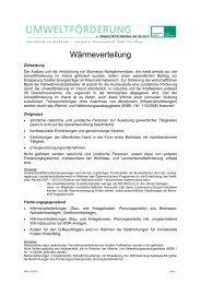Wärmeverteilung - Kommunalkredit Public Consulting