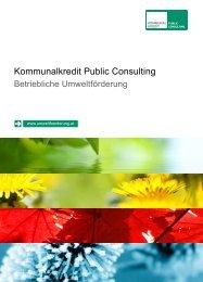 Infomappe - Kommunalkredit Public Consulting