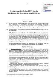 Förderungsrichtlinien 2011 für die Förderung der Erzeugung von ...