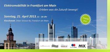 Flyer Elektromobilität in Frankfurt am Main - 21. April 2013 ...