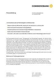 2009 11 30 Commerzbank setzt auf Nachhaltigkeit und Klimaschutz ...