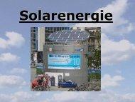 Solarenergie - Umweltforum Rhein-Main