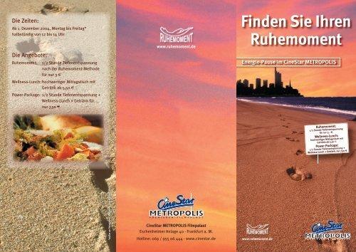 Finden Sie Ihren Ruhemoment - Umweltforum Rhein-Main