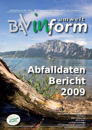Abfalldatenbericht 2009 - Umweltprofis