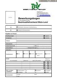 Bewerbungsbogen BAV Wels-Land 2013 - Umweltprofis