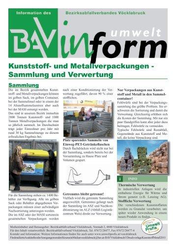 Kunststoff- und Metallverpackungen - Sammlung und ... - Umweltprofis