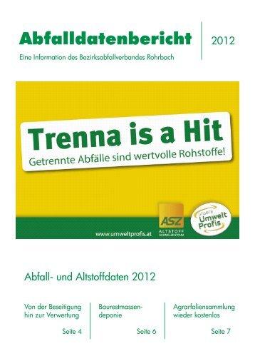Abfalldatenbericht 2012 - Umweltprofis