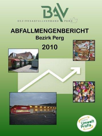 ABFALLMENGENBERICHT - Umweltprofis
