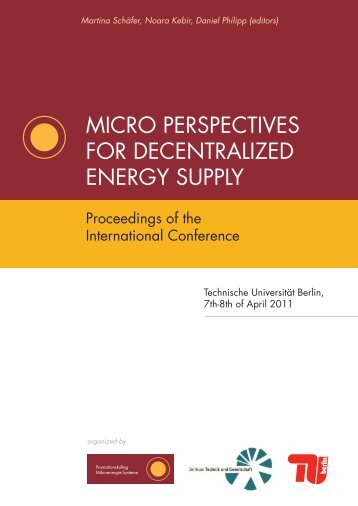micro perspectives for decentralized energy supply - TU Berlin