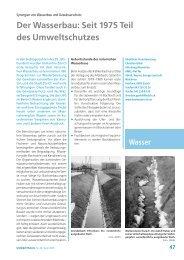 Der Wasserbau: Seit 1975 Teil des Umweltschutzes - Kanton Zürich