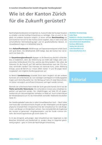 Wie ist der Kanton Zürich für die Zukunft gerüstet? Editorial