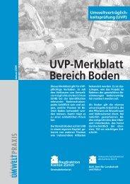 UVP Merkblatt Bereich Boden - Kanton Zürich
