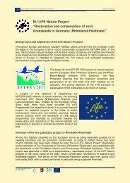 EU LIFE Nature Project - Stiftung Natur und Umwelt Rheinland-Pfalz