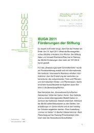 BUGA 2011 Förderungen der Stiftung - Stiftung Natur und Umwelt ...