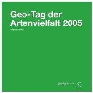 Tag der Artenvielfalt 2005 - Stiftung Natur und Umwelt Rheinland-Pfalz