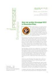 Pressemitteilung September 2012 - Stiftung Natur und Umwelt ...