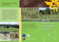 Flyer Tranenweiher - Stiftung Natur und Umwelt Rheinland-Pfalz