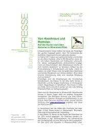 Pressemitteilung als pdf - Stiftung Natur und Umwelt Rheinland-Pfalz