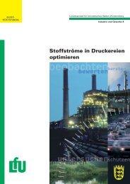Stoffströme in Druckereien optimieren (Broschüre, LfU)