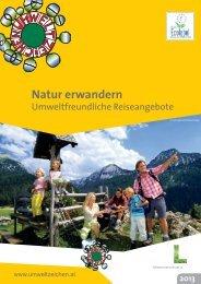 Natur erwandern - Das Österreichische Umweltzeichen