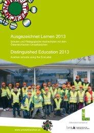 Ausgezeichnet Lernen 2013 - Das Österreichische Umweltzeichen