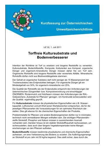 Umweltzeichen Richtlinie - Das Österreichische Umweltzeichen