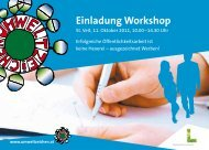 Einladung Workshop