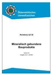 Mineralisch gebundene Bauprodukte - Das Österreichische ...