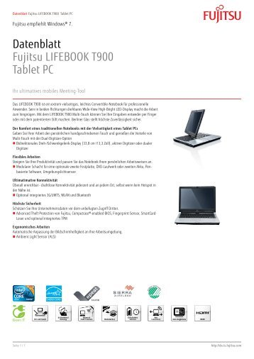 datenblatt fujitsu lifebook t730 tablet pc arp. Black Bedroom Furniture Sets. Home Design Ideas