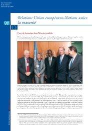 Relations Union européenne-Nations unies: la maturité