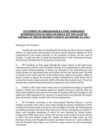statement by ambassador hs puri, permanent - Member States Portal