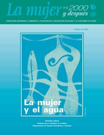 La mujer y el agua - Naciones Unidas