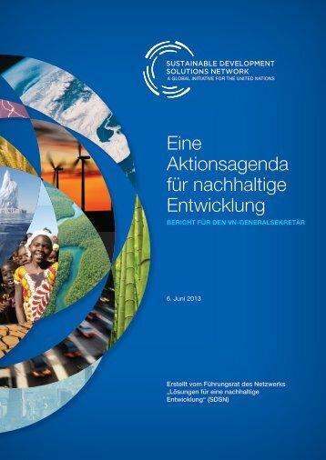 Eine Aktionsagenda für nachhaltige Entwicklung