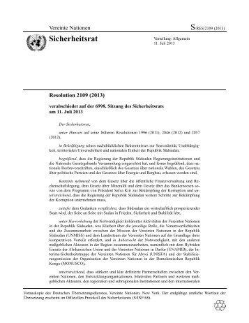 Resolution 2109