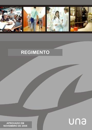 REGIMENTO UNA - APROVADO NOVEMBRO 2008