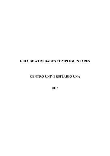 GUIA DE ATIVIDADES COMPLEMENTARES - Una