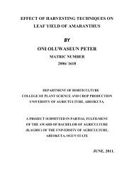 by oni oluwaseun peter - The Federal University of Agriculture ...
