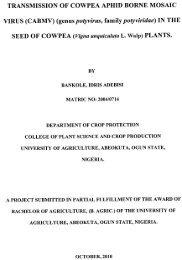 TRANSMISSION OF COWPEA APHID BORNE MOSAIC VIRUS ...