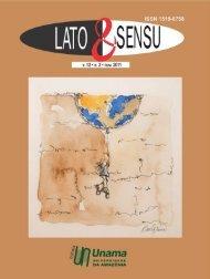 REVISTA LATO E SENSU 2011.indd - Unama