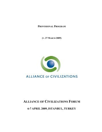 Provisional Program - United Nations Alliance of Civilizations ...
