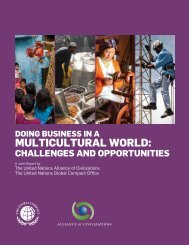 Doing Business in a Multicultural World - United Nations Alliance of ...