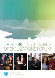 Forum report - United Nations Alliance of Civilizations (UNAOC)