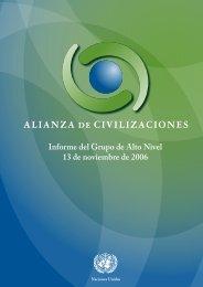 Informe del Grupo de Alto Nivel 13 de noviembre de 2006