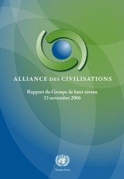 Rapport - United Nations Alliance of Civilizations (UNAOC)