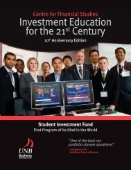 Investment Education for the 21st Century - University of New ...